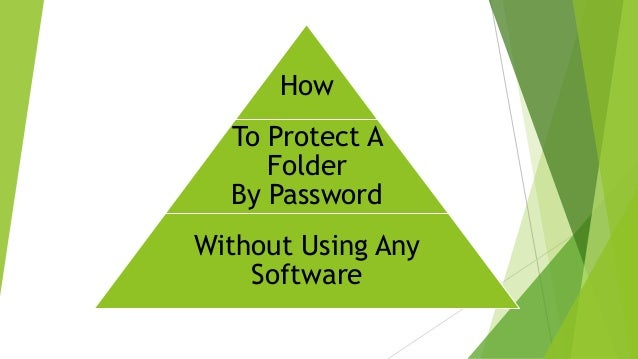 Protect Folders without using any Software