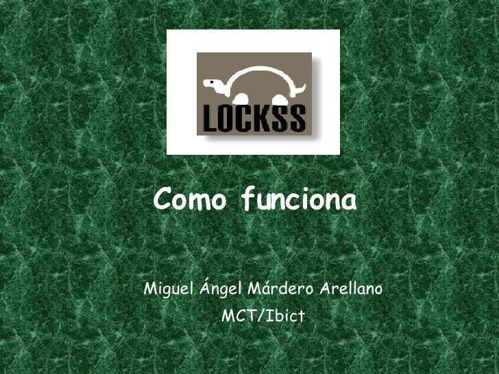 Como funciona Miguel Ángel Márdero Arellano MCT/Ibict