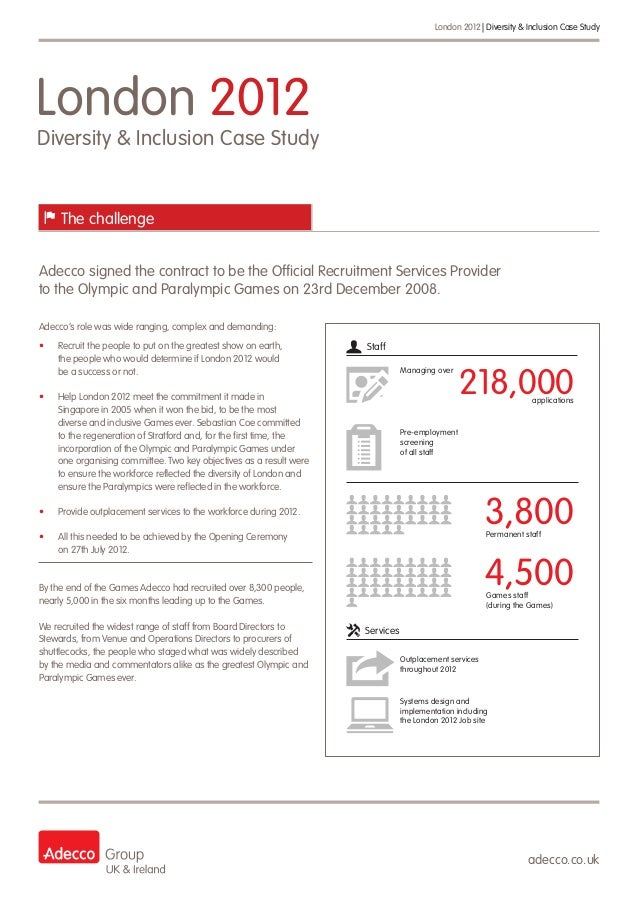 LOCOG - Adecco's Diversity and Inclusion Case Study