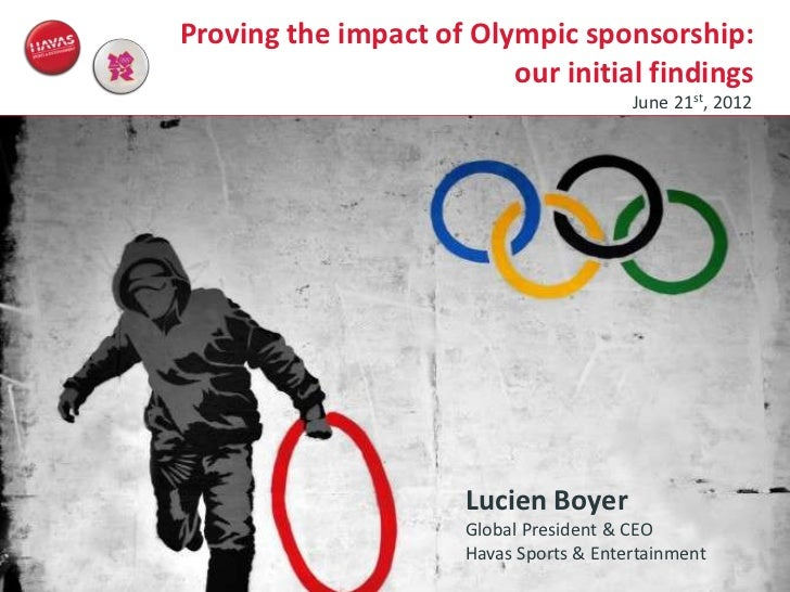 Proving the impact of Olympic sponsorship:                                                          our initial findings  ...