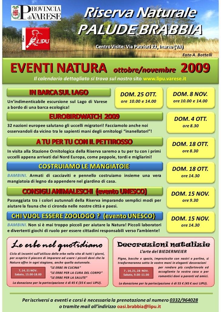 Riserva Naturale                                                     PALUDE BRABBIA                                       ...