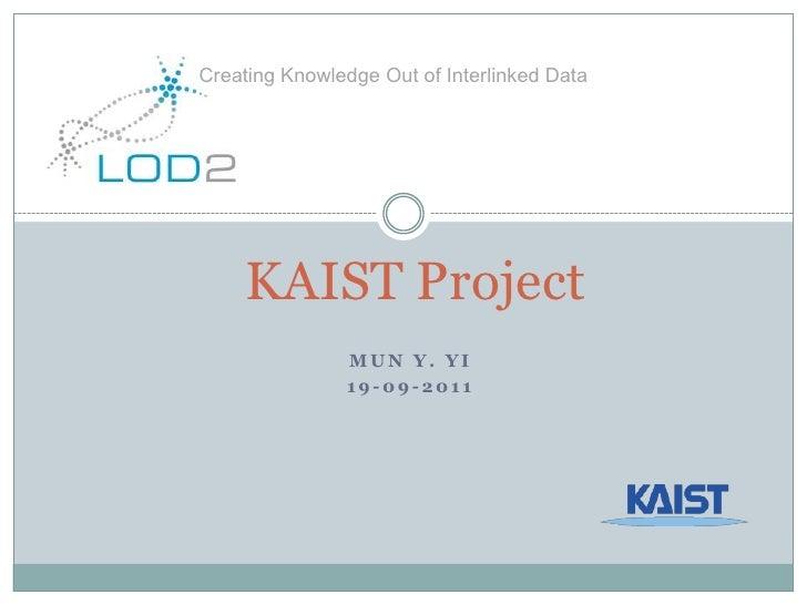 LOD2 Plenary Meeting 2011: KAIST – Partner Introduction
