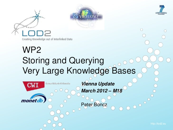 LOD2 Plenary Vienna 2012: WP2 - Storing and Querying Very Large Knowledge Bases