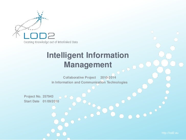 Creating Knowledge out of Interlinked Data                      Intelligent Information                            Managem...