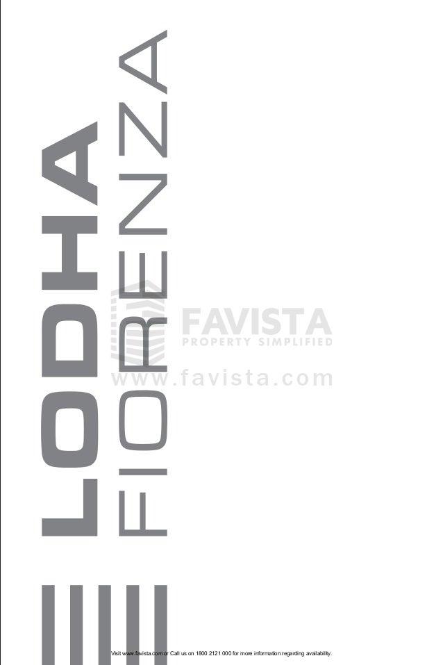 Lodha fiorenza brochure 727 Favista Real Estate