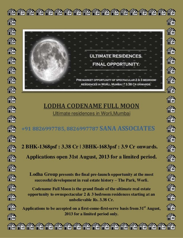 Lodha group CODENAME fullmoon