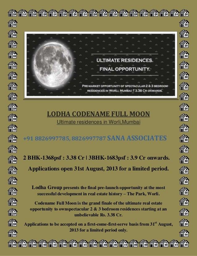 pre launch Lodha group codename fullmoon