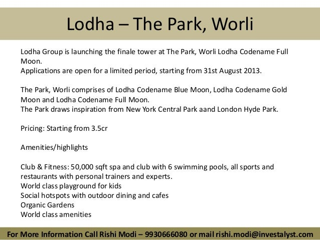 Lodha Codename Full Moon, Worli