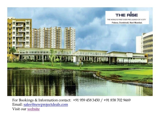 For Bookings & Information contact: +91 959 458 3450 / +91 858 702 9469 91 91 Email: sales@newprojectdeals.com Visit our w...