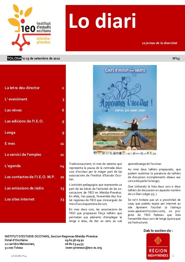 Lo diari                                                                                                          Lo jorna...