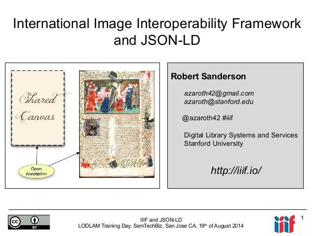 IIIF and JSON-LD: LODLAM Training Day