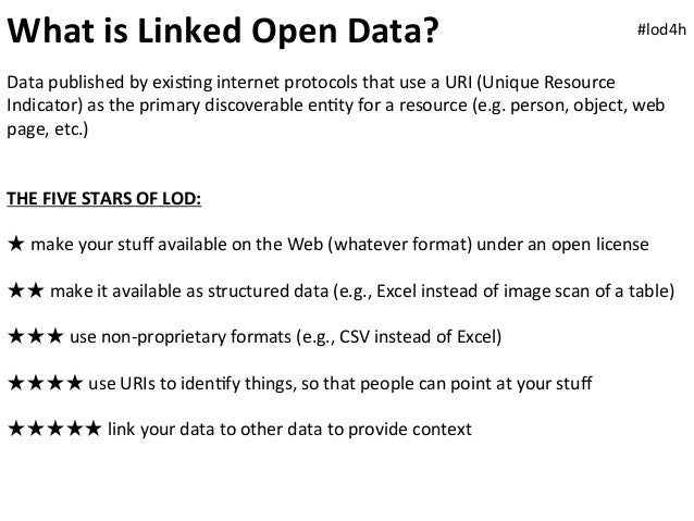 What is Linked Open Data?                                                                                      #...