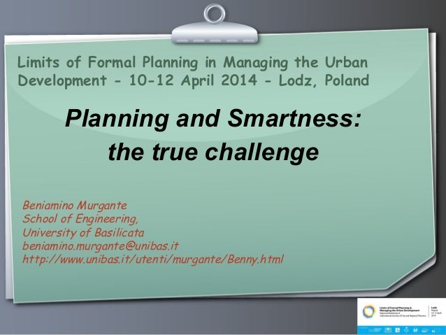 Planning and Smartness: the true challenge