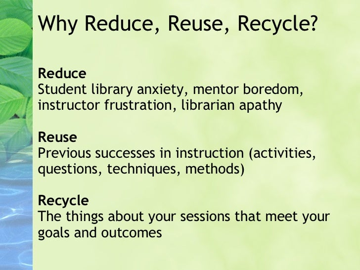 Essay On Reuse Reduce Recycle