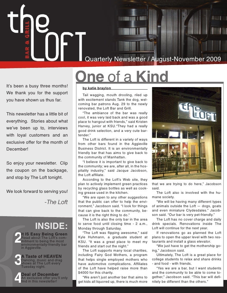 Quarterly Newsletter / August-November 2009   It's been a busy three months!                                          One ...