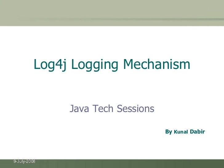 Log4j Logging Mechanism