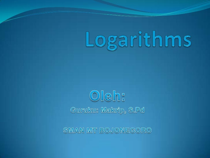 LOGARITHMS                     exponential         logarithmic                      m               b             A      l...