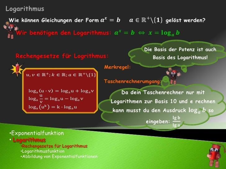 <ul><li>Exponentialfunktion