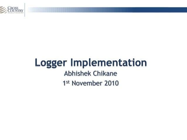 Logger implementation