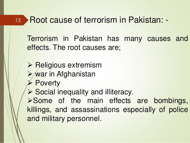 essay on causes of terrorism