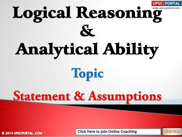 Logical reasoning-and-analytical-ability-statement-and-assumptions