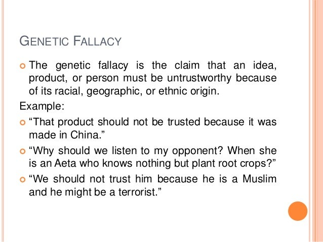 fallacies fallacy and clear example Critical thinking – handout 3 – the ad hominem fallacy fallacy to get clear on what an ad hominem fallacy is, we simple example of the ad hominem fallacy.