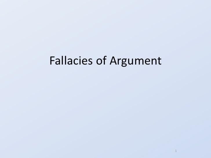 FallaciesofArgument                        1