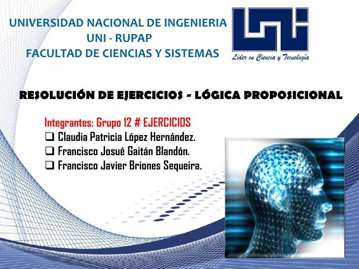 UNIVERSIDAD NACIONAL DE INGENIERIA<br />UNI - RUPAP<br />FACULTAD DE CIENCIAS Y SISTEMAS<br />Grupo 12:<br />Claudia Patri...