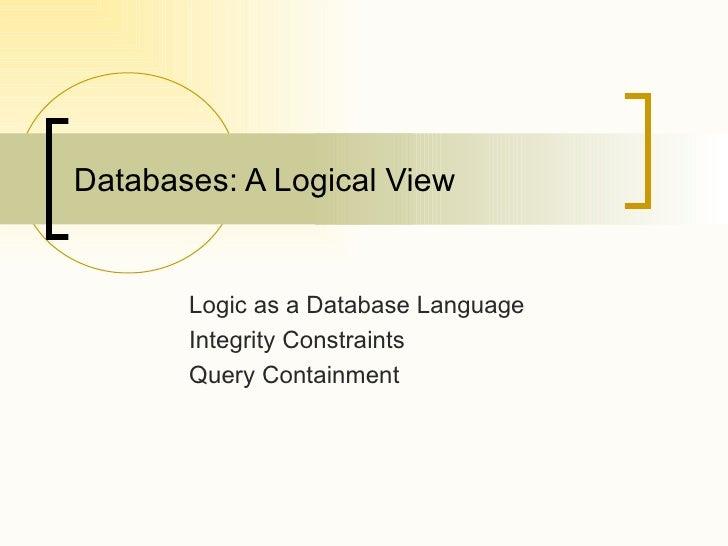 [ABDO] Logic As A Database Language