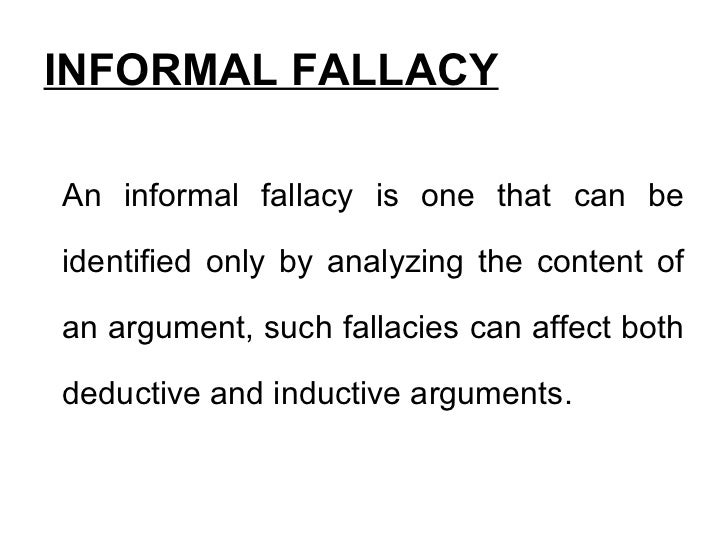 how to avoid informal fallacy