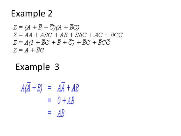 Boolean algebra exercises with answers