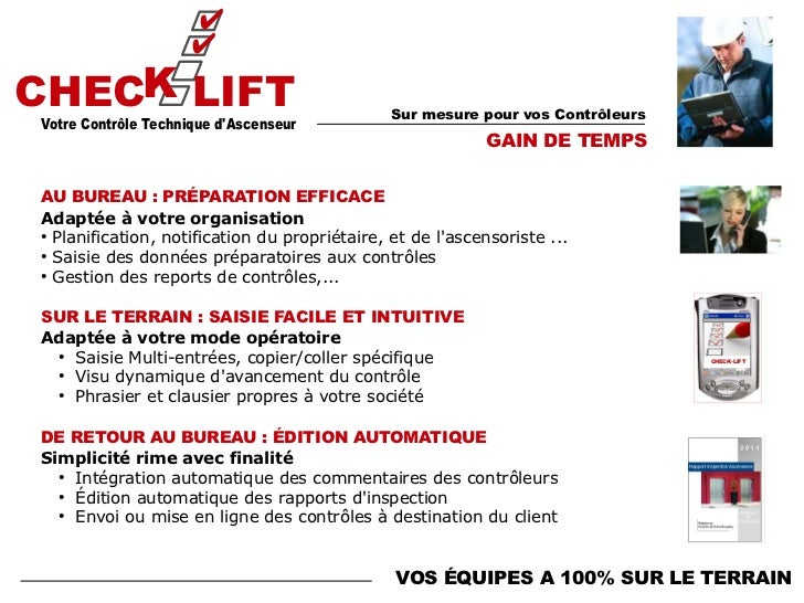 Logiciel controle technique ascenseur check lift 1 6 - Bureau de controle technique ...