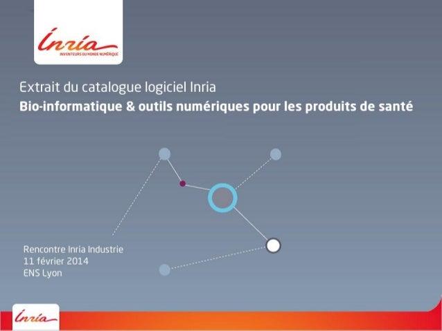 """Catalogue logiciels """"bio-informatique et outils numériques"""""""