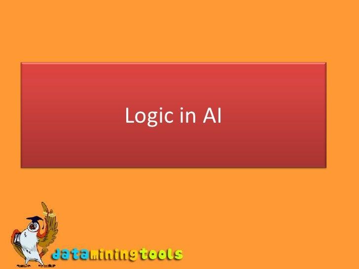AI: Logic in AI