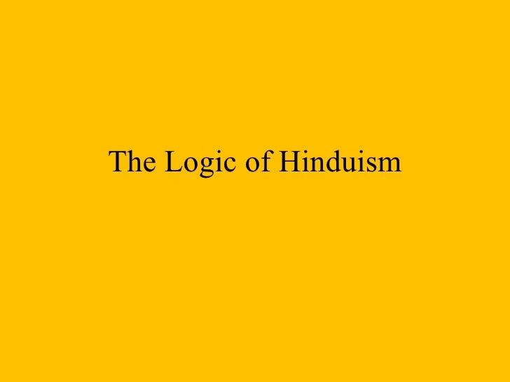 Logic of hinduism