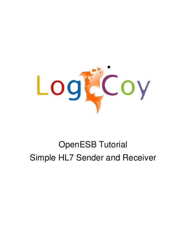 OpenESB TutorialSimple HL7 Sender and Receiver