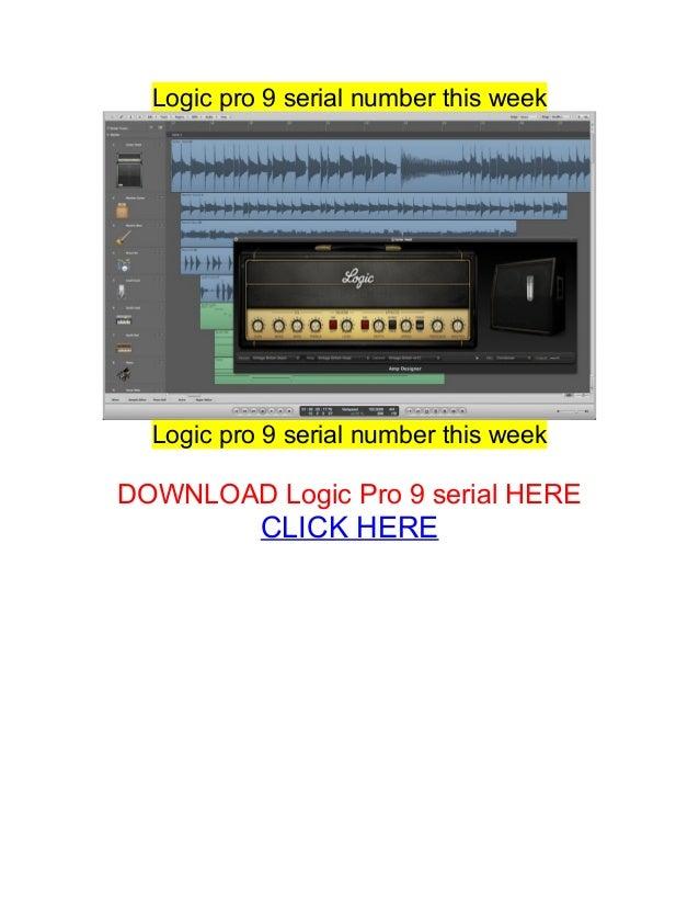 Logic Pro 9 Serial number