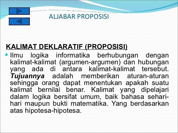 Bab I. Kalimat Deklaratif