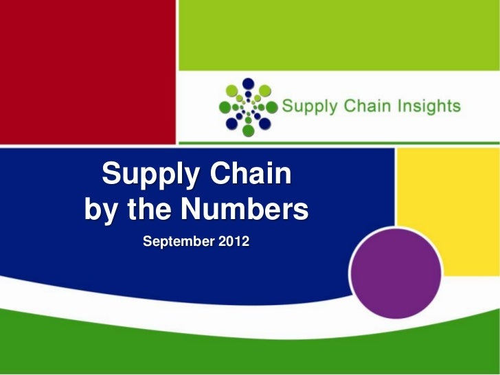 Supply Chainby the Numbers   September 2012
