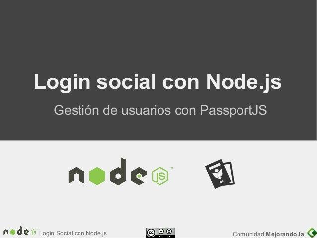 Login social con node.js