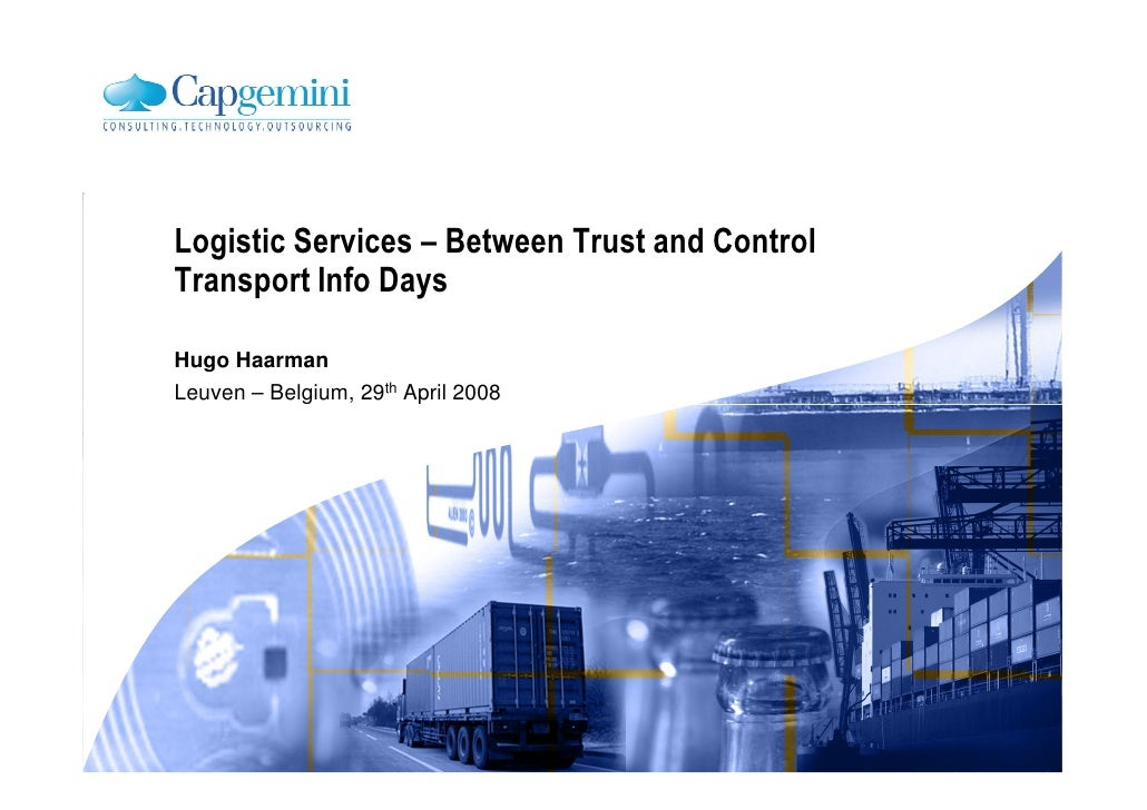 Logistic Services - Between Trust And Control V1 2