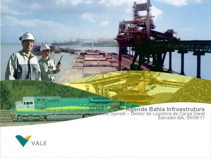Agenda Bahia Infraestrutura Marcello Spinelli – Diretor de Logística de Carga Geral Salvador-BA, 04/08/11