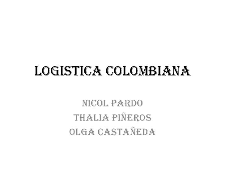 Logistica colombiana