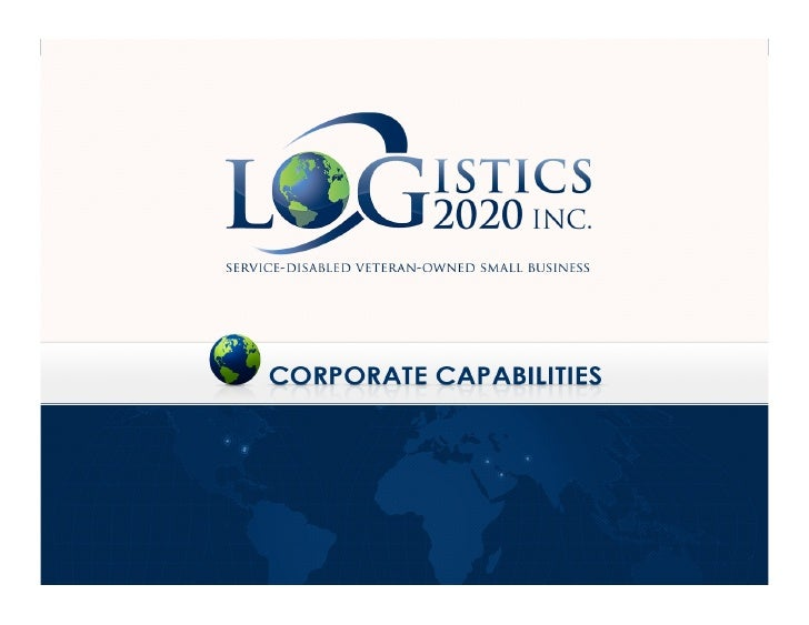Logistics 2020 Core Capabilities Brief