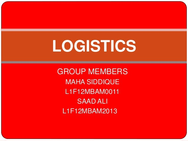 Logistics and tcs111