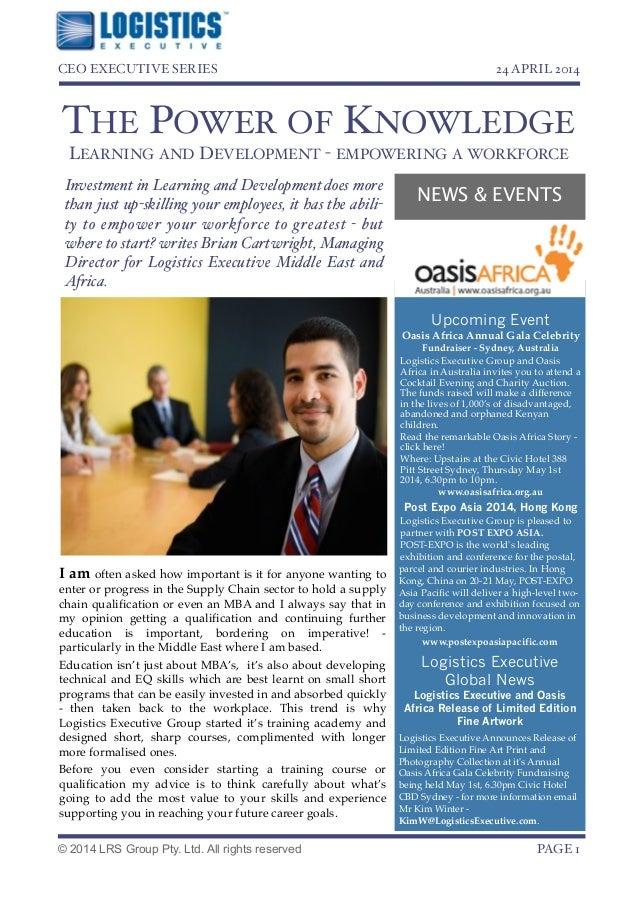 Logistics executive   ceo executive series - april 2014
