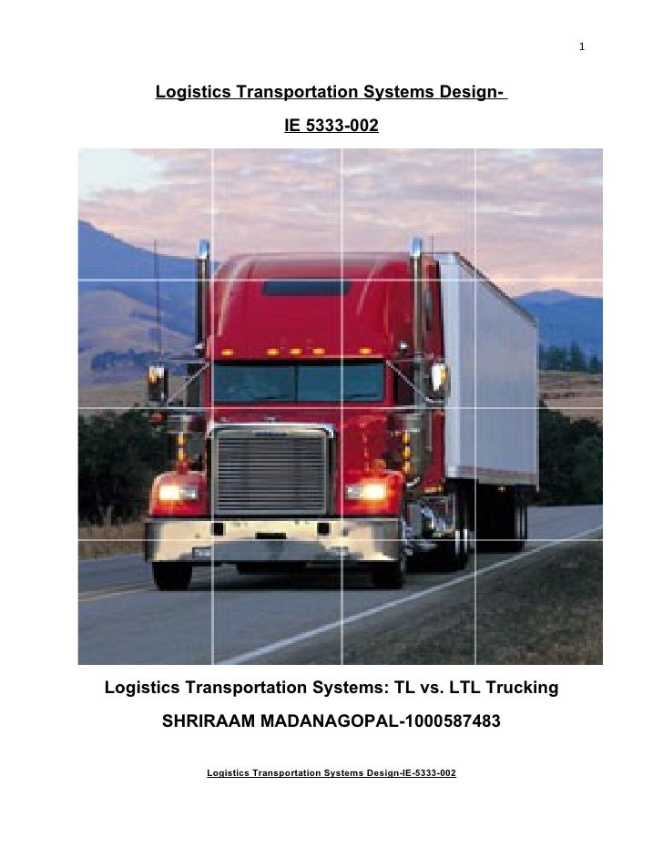 1        Logistics Transportation Systems Design-                           IE 5333-002     Logistics Transportation Syste...