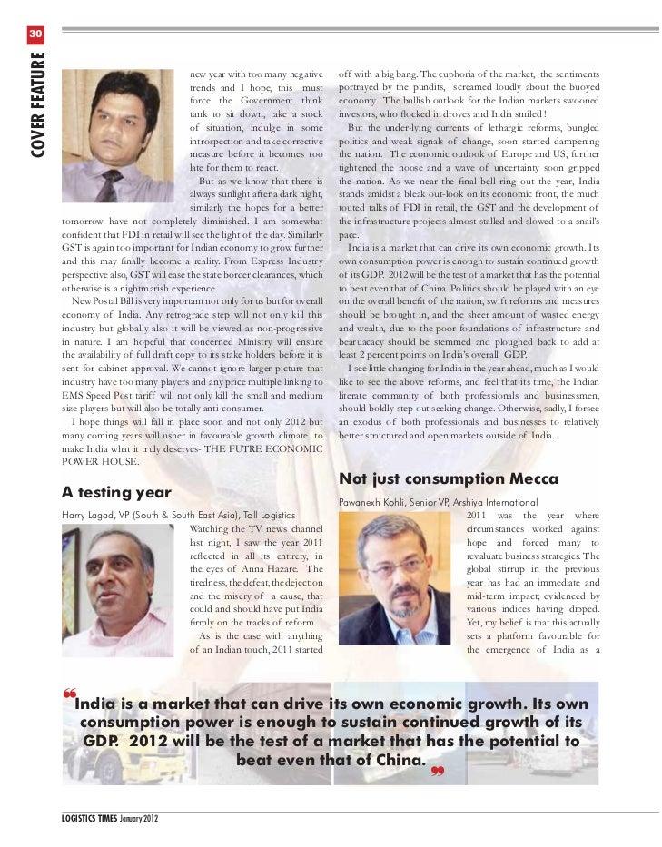 Pre Budget (India) - Looking ahead Jan12