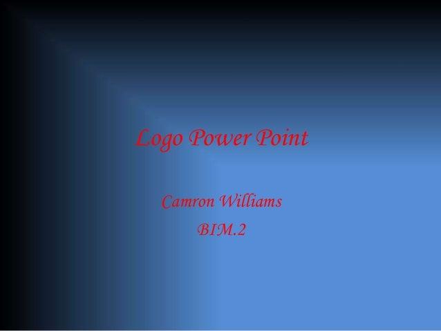 Logo Power Point Camron Williams BIM.2