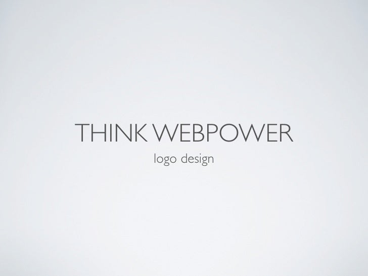 THINK WEBPOWER      logo design